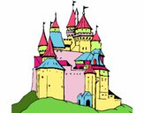 Coloring page Medieval castle painted byJubblyRuss