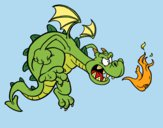 Coloring page Evil dragon painted byShelbyGee