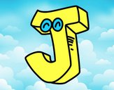 Coloring page Letter J painted byIvan