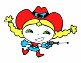Joyful cowgirl