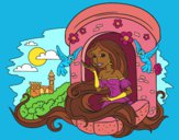 Coloring page Princess Rapunzel painted byTheColor