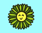 Coloring page Green flower painted byKArenLee