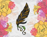 Coloring page Apache feather painted bySearlait