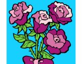 Coloring page Bunch of roses painted byBobbie