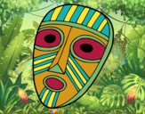 Coloring page Surprised mask painted byMGapsis