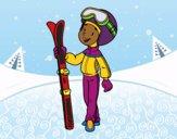 Coloring page Ski painted bybarbie_kil