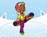 Coloring page Snowboard girl painted bybarbie_kil
