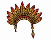 Indian feather crown head