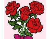 Coloring page Bunch of roses painted byAish