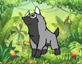 Coloring page Grey wolf painted byGramanana4