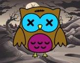 Coloring page Halloween owl painted byGramanana4