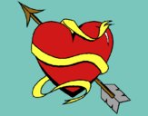Coloring page Heart with arrow painted byAish