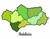 Coloring page Andalusia painted bywequix