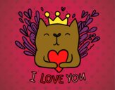 Coloring page Love message painted byAlexi