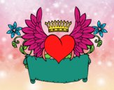 Coloring page Message with heart painted byAlexi