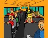 Coloring page School bus painted byCherokeeGl