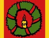 Coloring page Christmas wreath II painted byCherokeeGl