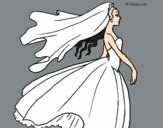 Coloring page Bride painted byAnia