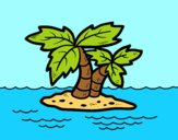 Coloring page Desert island painted byAnia