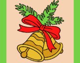 Coloring page Christmas bells painted byAnia