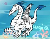Coloring page Elegant dragon painted bylugia12343