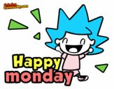 Coloring page Happy monday painted byAryanLove