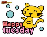 Coloring page Happy tuesday painted byAryanLove
