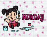 Coloring page Monday painted byrandol9572