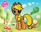 Coloring page Applejack of My Little Pony painted byJasmine