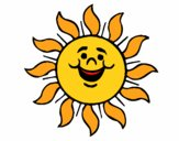 Coloring page Happy sun painted byKhaos006