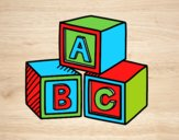 Educational cubes ABC