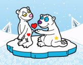 Bears couple in love