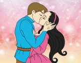 Coloring page Kiss of love painted bylorna
