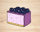 Coloring page Blueberry pie painted bybbbb