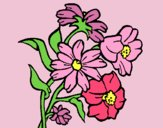 Coloring page Flowers painted bylorna