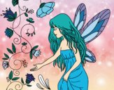 Coloring page Sylph painted bySamantha