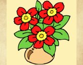 Coloring page Vase of flowers painted bylorna