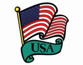 Coloring page U.S. Flag painted byassyla