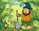 Coloring page Dwarf miner painted byAstr0wiz