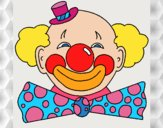 Clown with a big grin