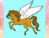 Coloring page Pegasus flying painted byalexadra