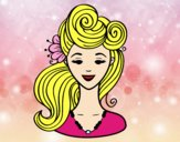 Coloring page Pin-up hairstyle  painted byalexadra
