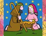 Worshipping baby Jesus