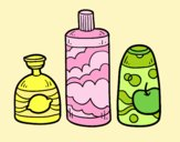 Coloring page 3 bath soaps painted byLornaAnia