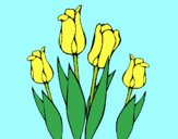 Coloring page Tulips painted byLornaAnia