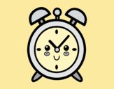 Coloring page Wind up alarm clock painted byLornaAnia