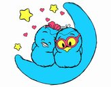 Coloring page Love birds painted bysamg
