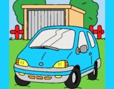 Coloring page Car in the country painted byLornaAnia