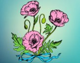 Coloring page Some poppies painted byLornaAnia