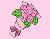 Coloring page Bunch of carnations painted byLornaAnia